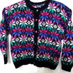 VTG~80sNew~Muti-Color~Angora~Lambs Wool Sweater